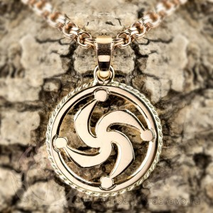 Оберег символ Рода из золота